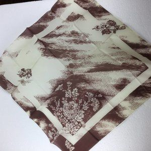 Vintage 1960s scarf square Flowers